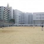 浦江運動場で練習