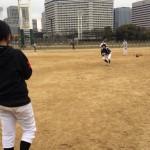 ゴロの捕球練習