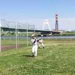 午後は淀川河川敷