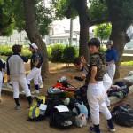 今日は午前は平野で練習