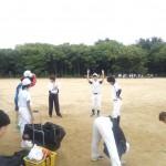 今日は大阪城公園で練習です