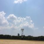 大阪城の野球場です