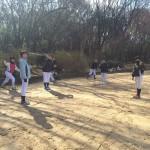 今日は大阪城公園で練習!