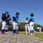 本日は古曽部防災公園にて試合
