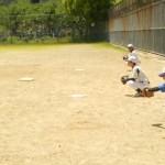 ピッチング練習、