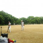ピッチング練習をして、