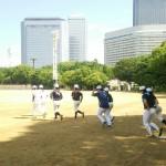 この日は大阪城公園練習