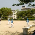 今日は武蔵谷公園で交流戦!