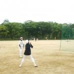 外野の基礎練習!