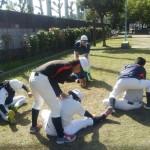 旭グラウンドで練習!