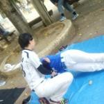 東中本運動場練習。