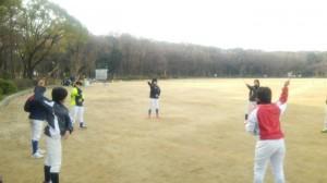 投球動作の練習