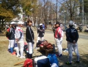 本日は下福島運動場で練習!