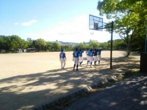 武蔵谷公園で入れ替え戦!