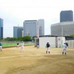 大阪城公園で練習!