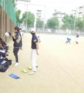 東中本運動場で練習!