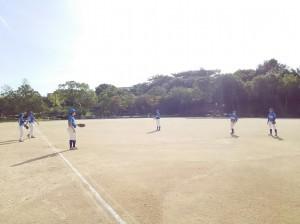 武蔵谷公園で練習試合!