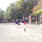 桃谷野球場で練習です!
