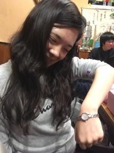 かりん姫に就職祝いの時計!