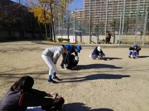 下福島運動場で練習納め!