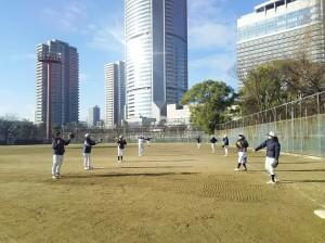 桜ノ宮野球場です!