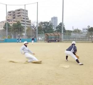 走塁を中心に練習!