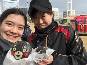 大阪城公園の練習後、