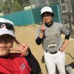 この日は真田山運動場練習!