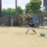 カズキと盗塁対決!