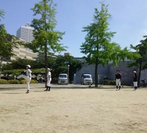 この日は下福島運動場で