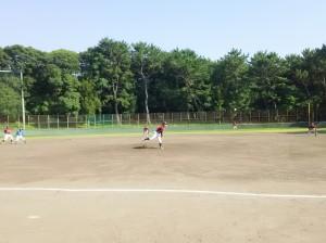 炎天下での野球は、