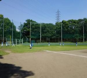 猛暑の中、練習試合!