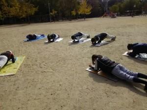 この日は、磯路中央運動場練習。