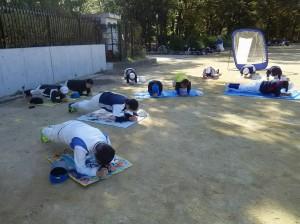 大阪城公園で練習です!