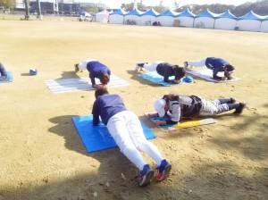 体幹トレーニングです。