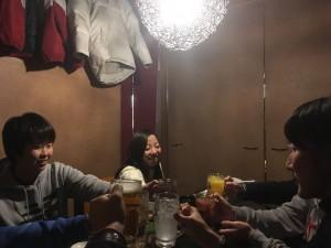 梅田に帰って新年会!今年もがんばろう!