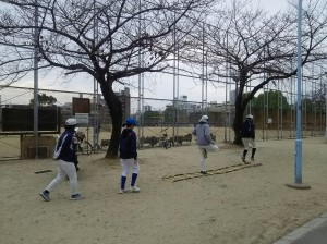この日は今津運動場練習。