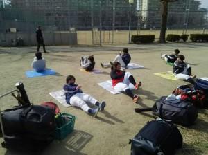 この日は下福島運動場。