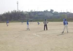 試合後に練習。