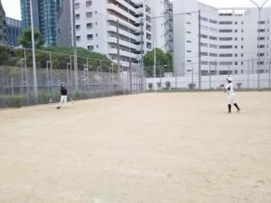 浦江運動場で練習!