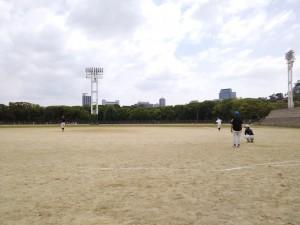 この日は大阪城公園練習!