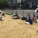 この日も大阪城公園練習!