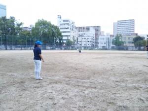 この日は寺田町で練習。