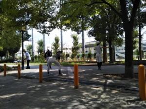 真夏の旭グラウンド練習!