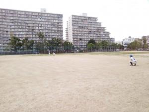 そんな下福島運動場で練習。
