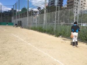 この日は浦江運動場練習。