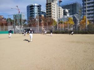 浦江運動場にて練習。