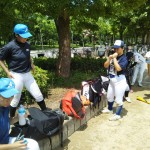 大阪城公園で練習でした。