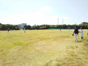 この日は淀川河川敷練習。