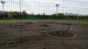 この日は、小田南野球場で